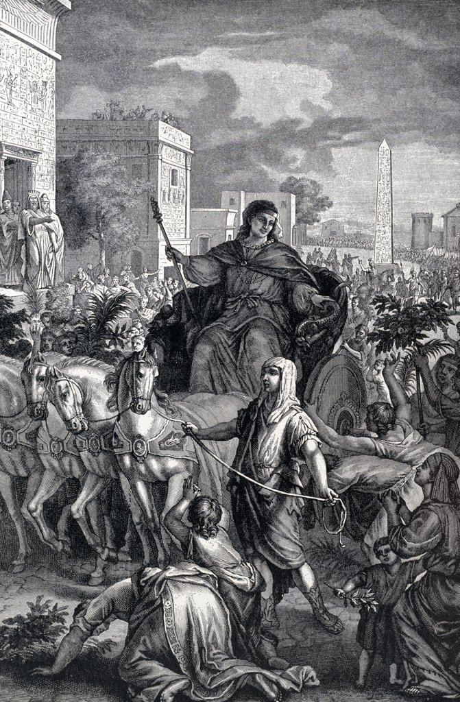 Joseph Raised to Power by Gerard Hoet, engraving : Stock Photo