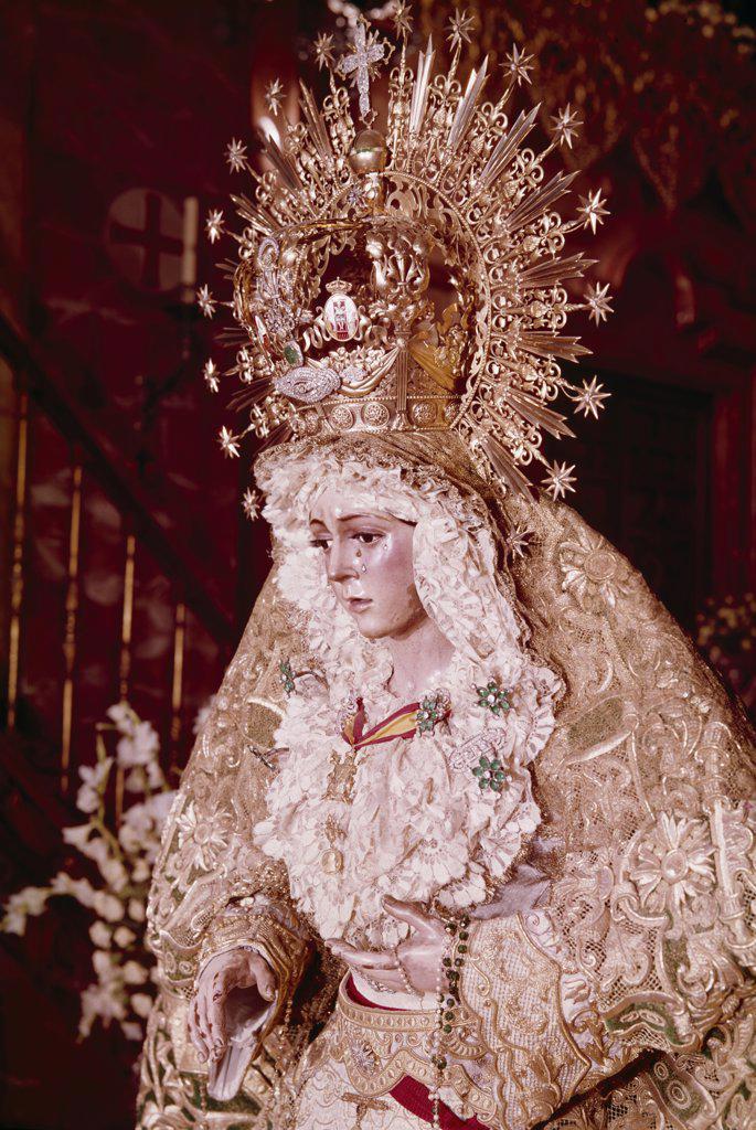Stock Photo: 900-117570 Madonna de la Macarena, artist unknown, sculpture, Spain, Seville