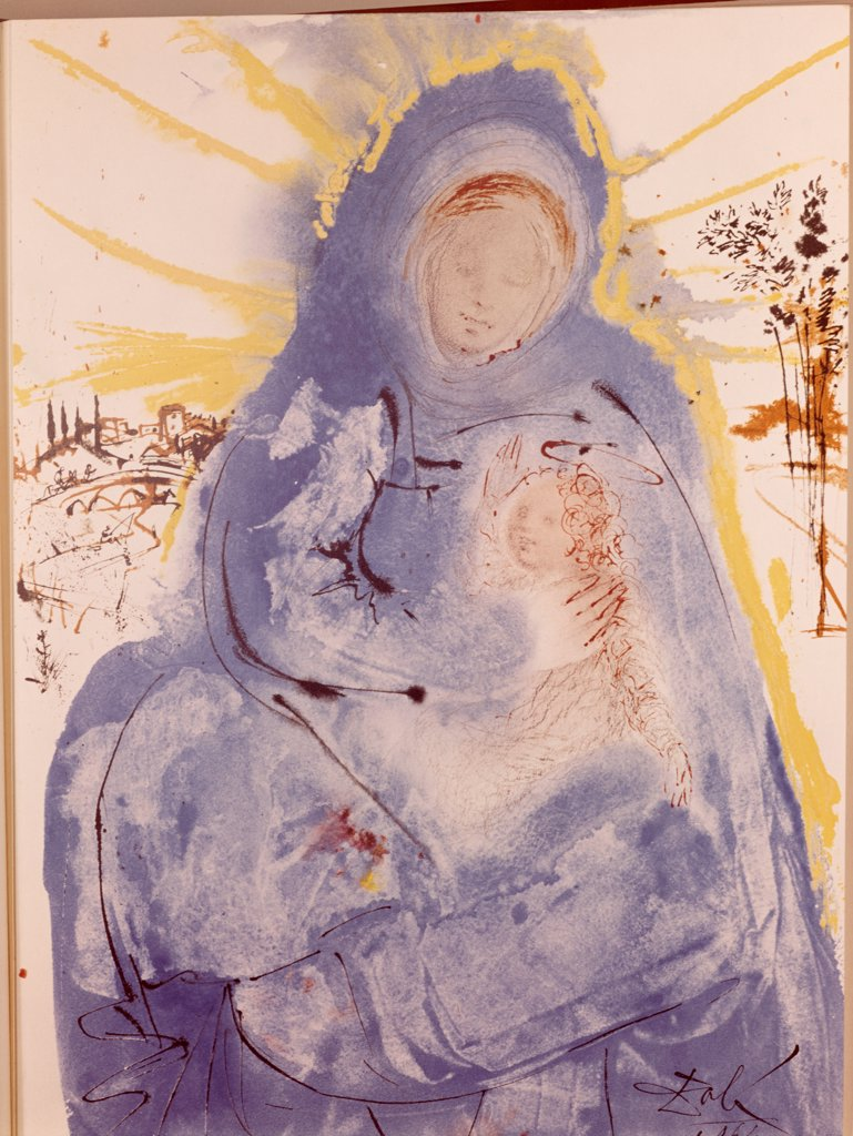 Stock Photo: 900-121053 Madonna and Child by Salvador Dali, 1904-1989