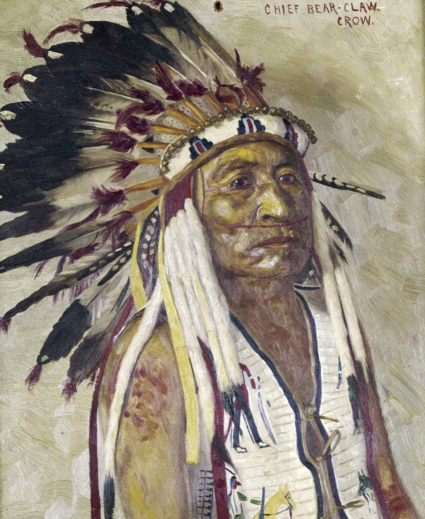 Stock Photo: 900-121362 Chief Bear Claw by Elbridge Ayer Burbank, 1858-1949