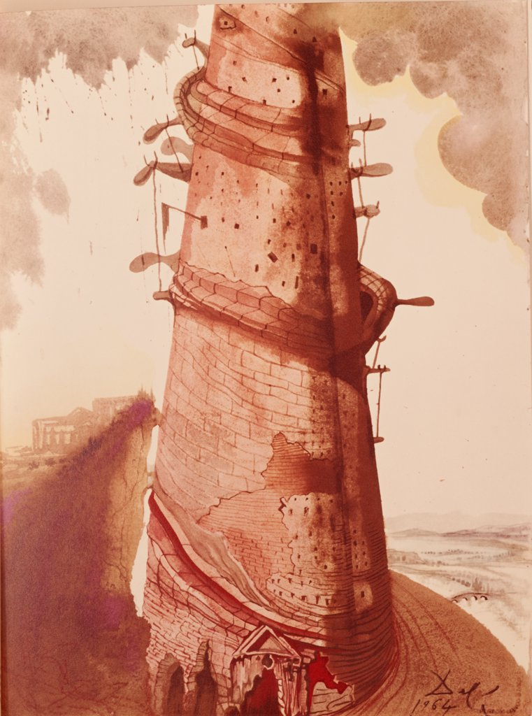 Stock Photo: 900-122414 Tower of Babel by Salvador Dali, 1904-1989