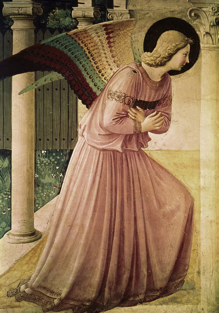 Stock Photo: 900-122806 Angel of the Annunciation-Detail