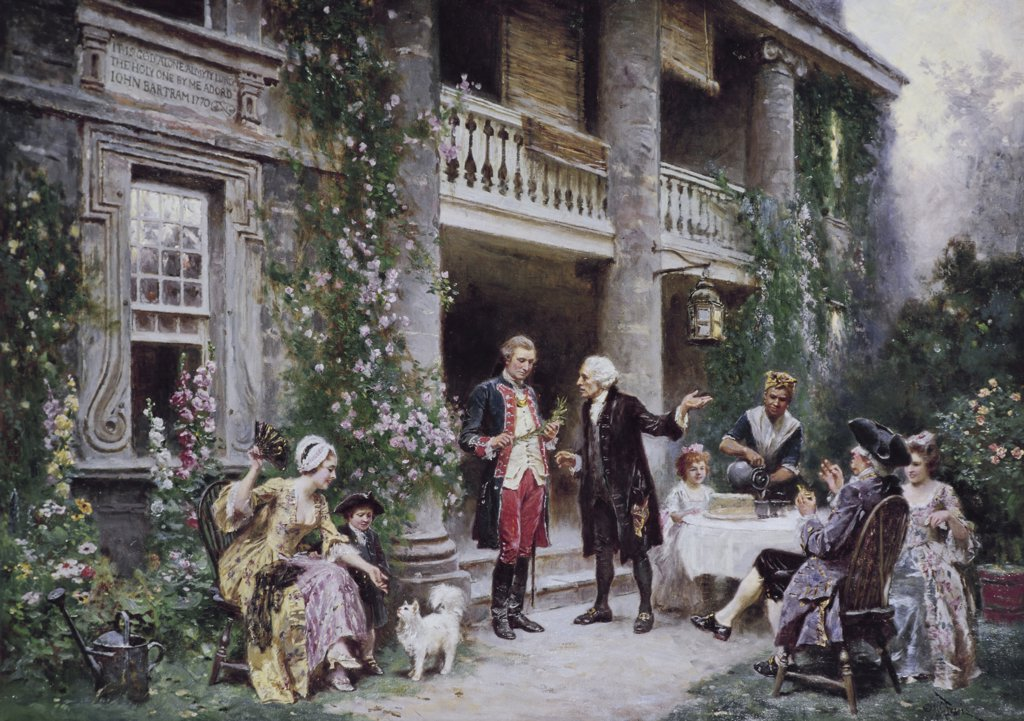 Stock Photo: 900-122815 Washington at Bartram's Garden
