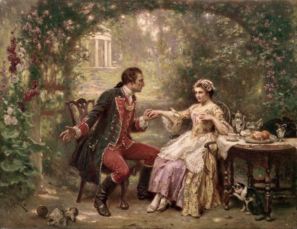 Stock Photo: 900-122820 Washington's Courtship