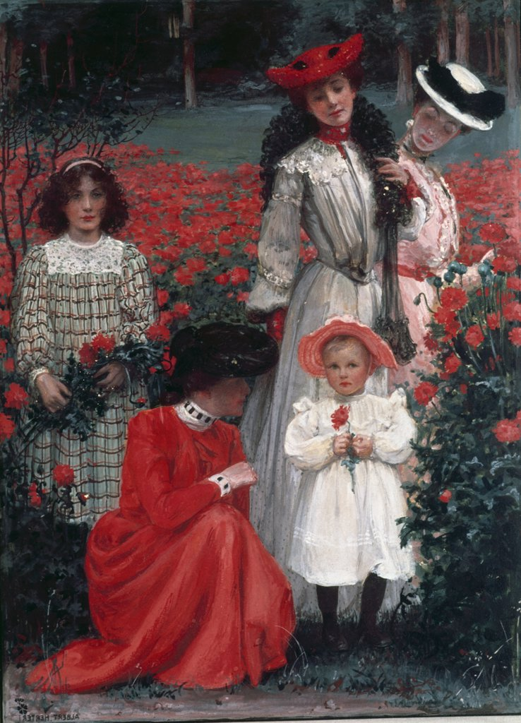 Stock Photo: 900-122887 Family Group by Albert Herter, (1871-1950)