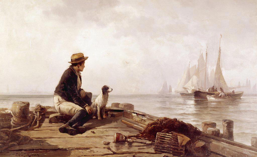 Stock Photo: 900-122889 The Distant Horizon by Edward Moran, (1829-1901)