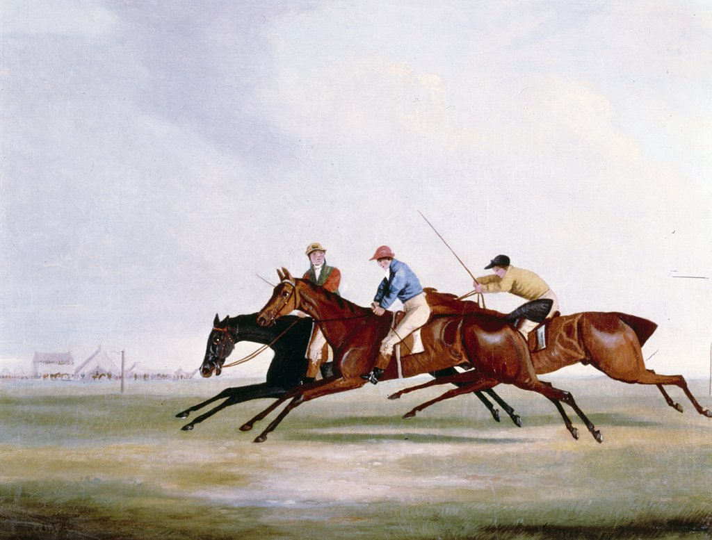 Stock Photo: 900-123289 The Finish by Henry Alken Sr., (1785-1851)