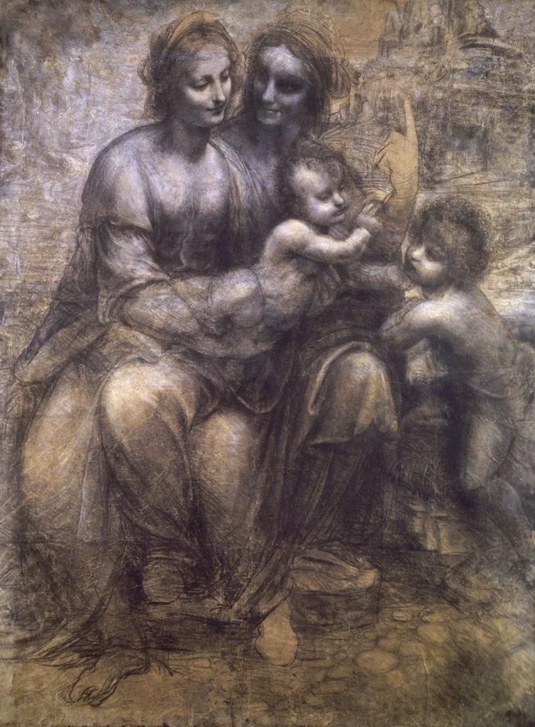 Stock Photo: 900-124028 Virgin and Child with St. Anne and Infant St. John the Baptist 