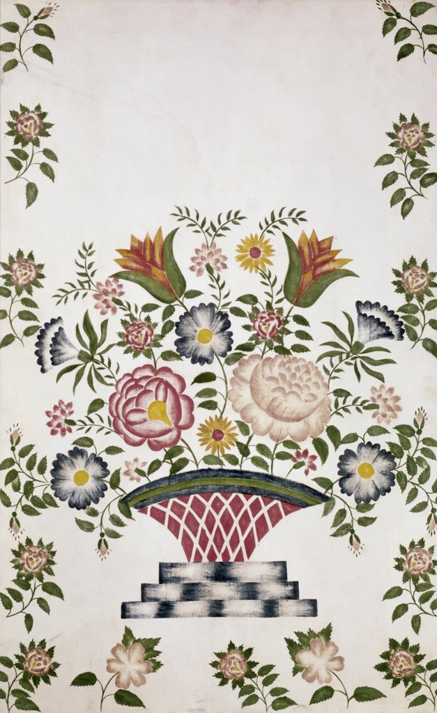 Stock Photo: 900-124793 Floral Stencil --19th C. Pennsylvania Dutch, 19TH C., Artist Unknown