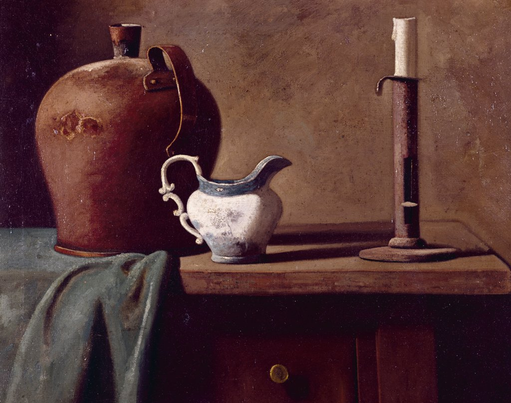 Copper Kettle, Pitcher by John Frederick Peto, (1854-1907) : Stock Photo