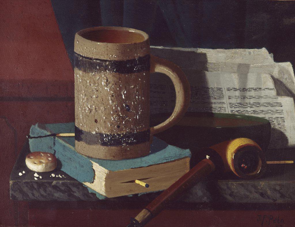 Stock Photo: 900-124936 Beer Mug and Pipe, Peto,  John Frederick (1854-1907/American)