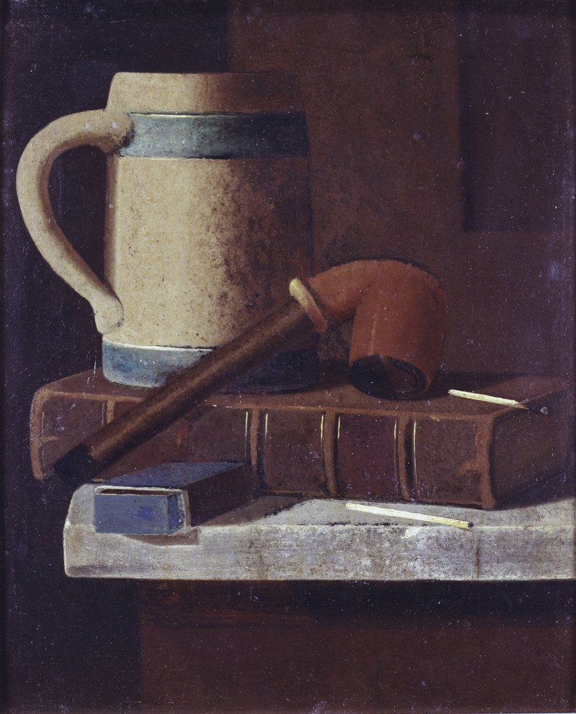 Stock Photo: 900-124937 Mug, Pipe And Book John Frederick Peto (1854-1907) American)