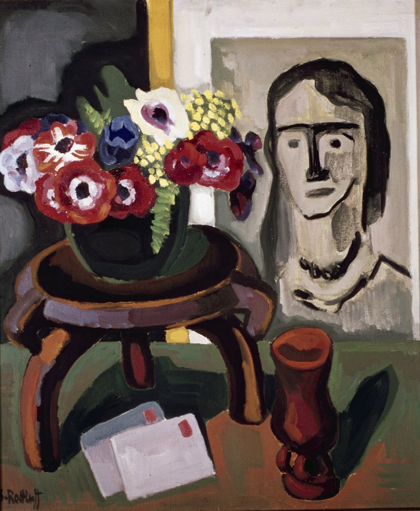 Birthday Greeting by Karl Schmidt-Rottluff, 1936, 1884-1976 : Stock Photo