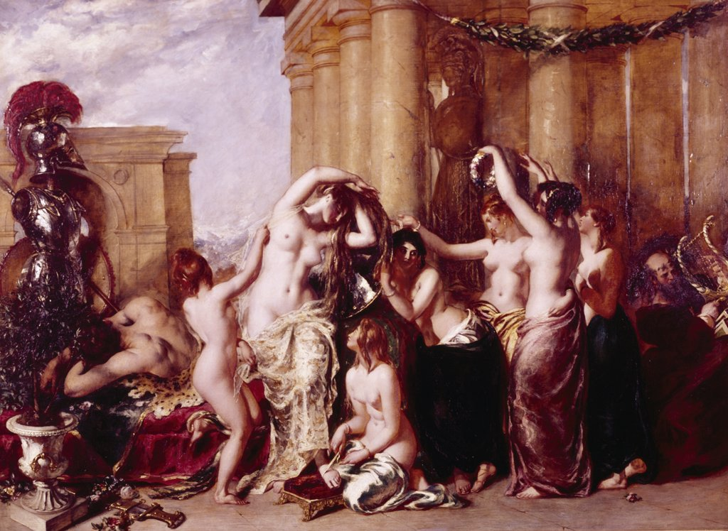 Stock Photo: 900-125361 The Toilette of Venus by William Etty, (1787-1849)