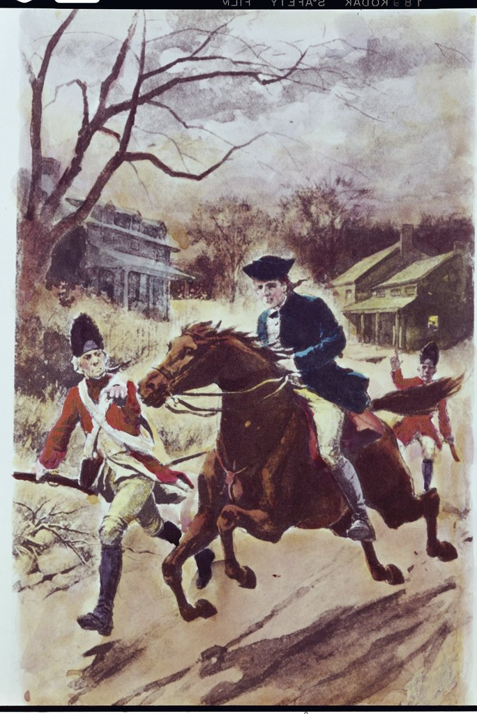 Stock Photo: 900-125669 Paul Revere's Ride by Gladys Rockmore Davis, 1901-1967
