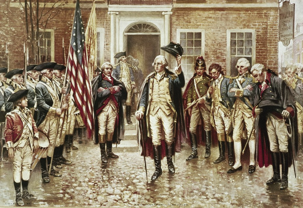 Washington's Farewell to his Officers Edward Percy Moran (1862-1935/American)  : Stock Photo