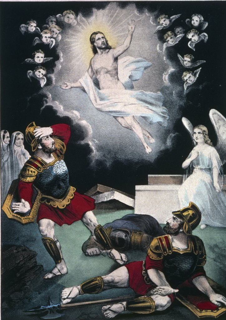 The Resurrection, Currier and Ives, color lithograph, 1857-1907, USA, Washington, D.C., Library of Congress : Stock Photo