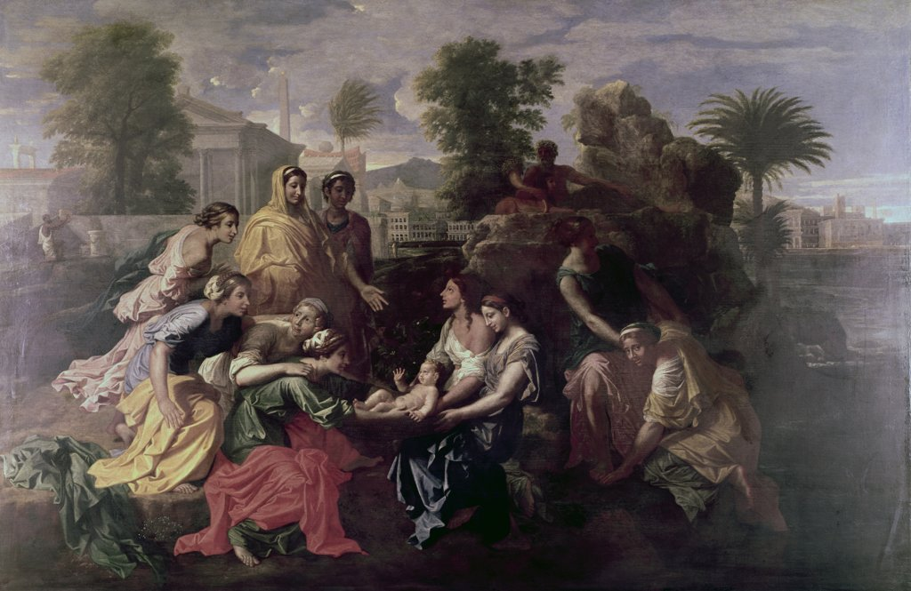 Stock Photo: 900-128071 Discovery Of Moses Nicolas Poussin (1594-1665 French)