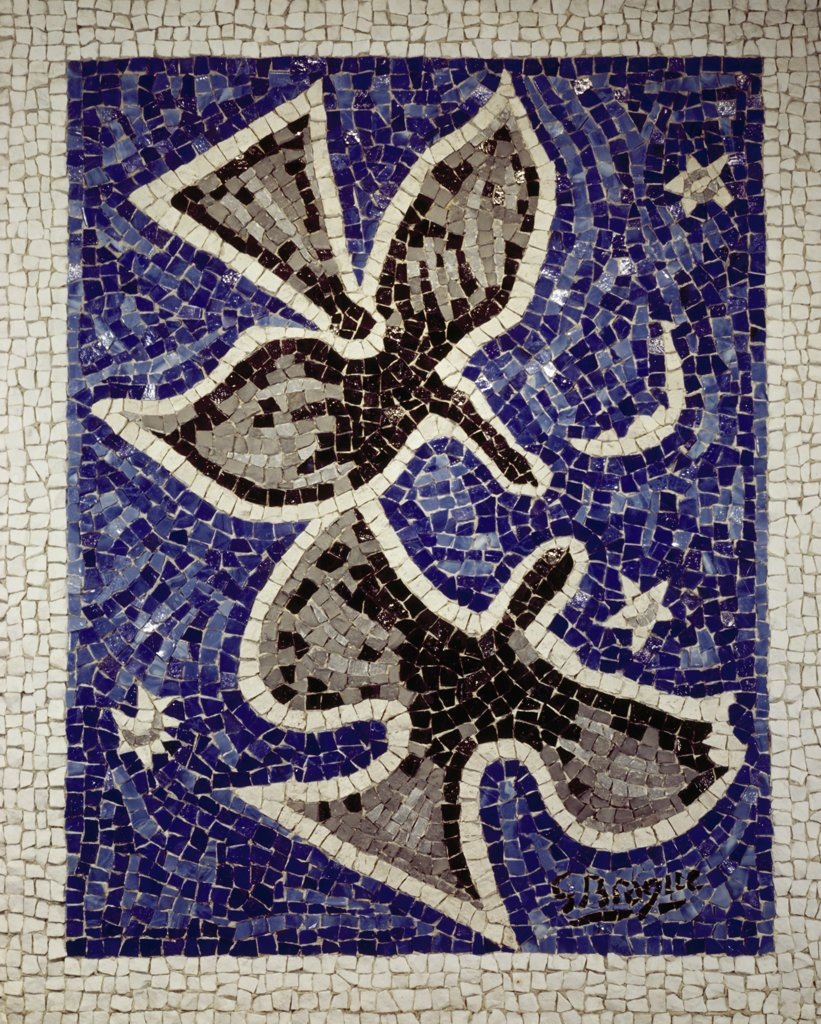 Stock Photo: 900-128613 Two Birds by Georges Braque, mosaic, (1882-1963)