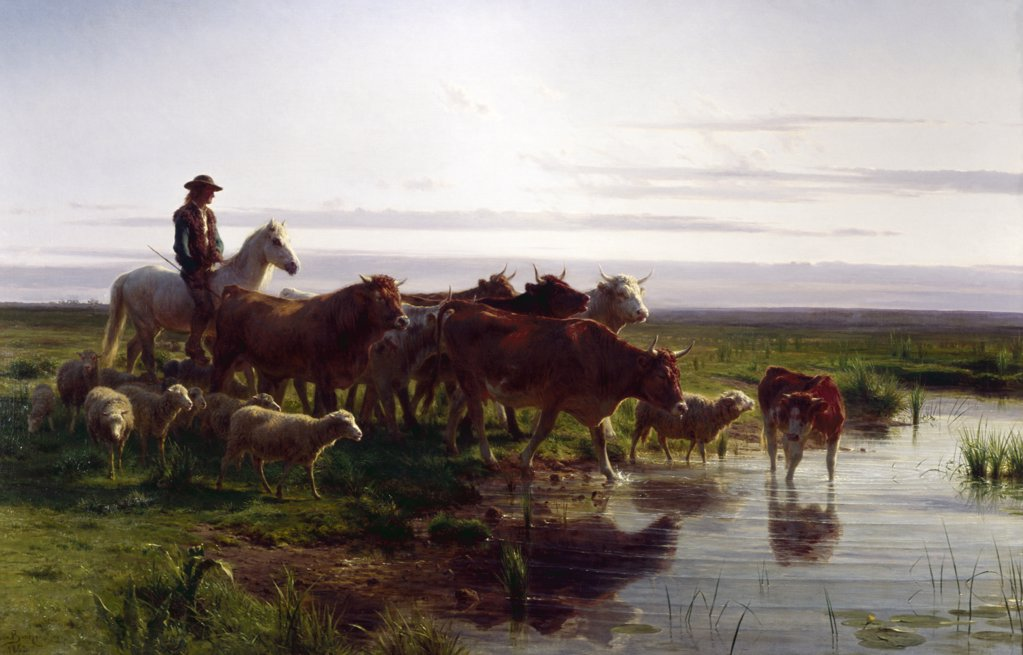 Stock Photo: 900-128834 Return From The Pasture, Bonheur, Rosa (1822-1899/French)