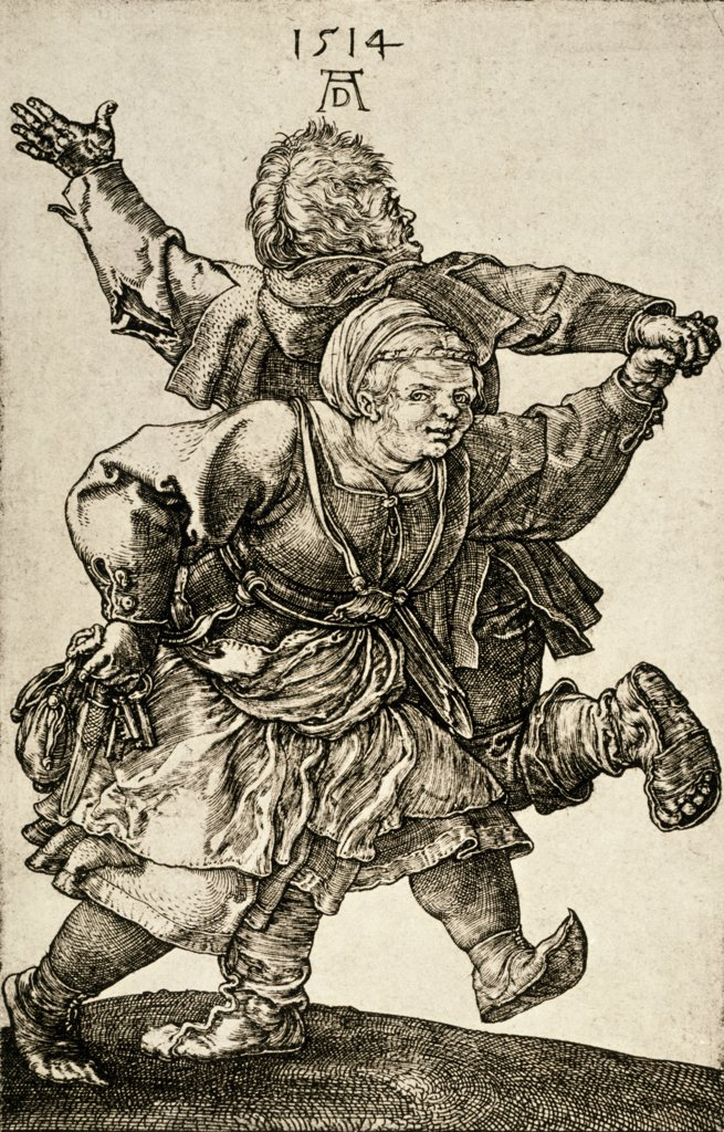 Stock Photo: 900-1289 Dancing couple by Albrecht Durer, 1514,