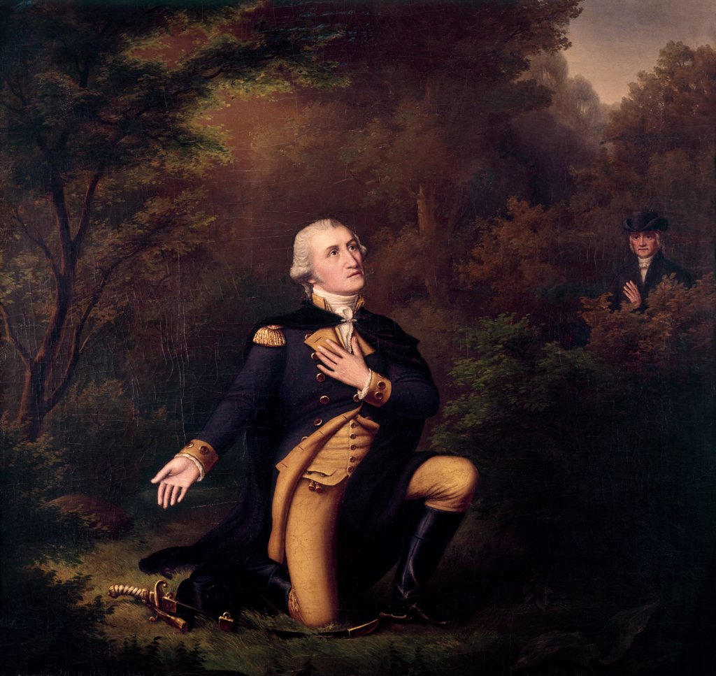 Stock Photo: 900-129449 Washington, George, In Prayer At Valley Forge