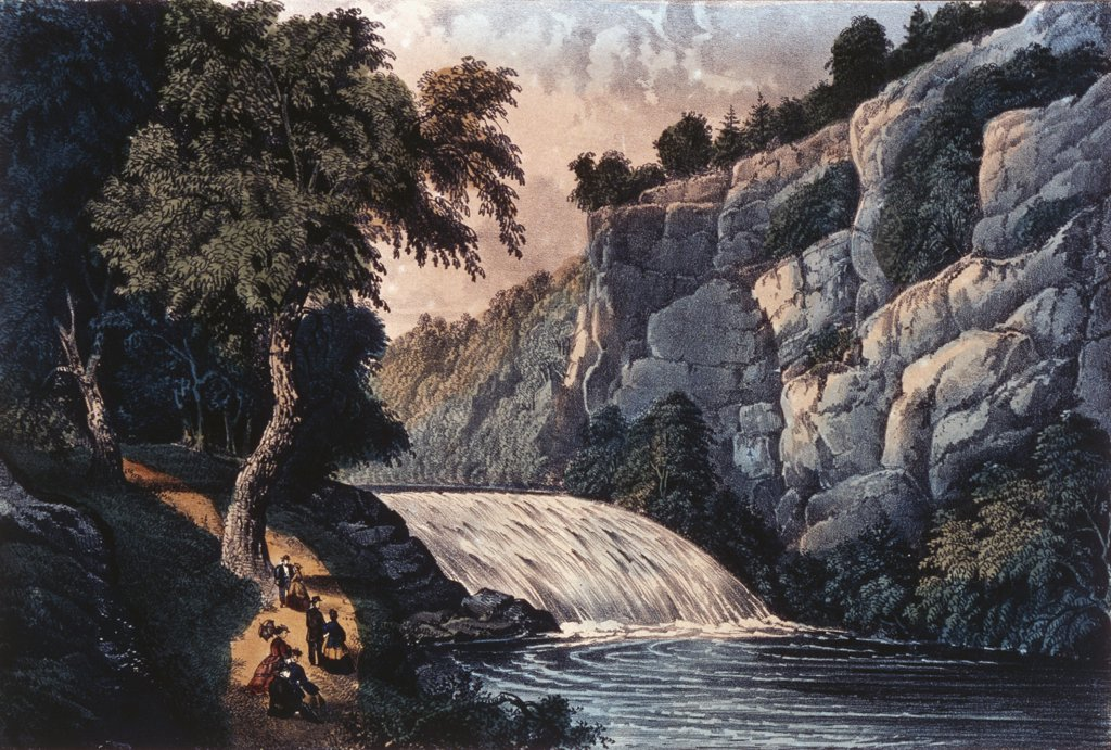 Stock Photo: 900-1314 Tallulah Falls - Georgia 