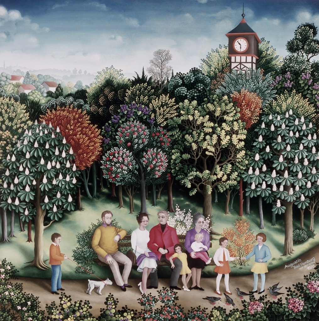 On Hill (Bad Homburg) by Ruth Augustin, 1970, b.1917 : Stock Photo