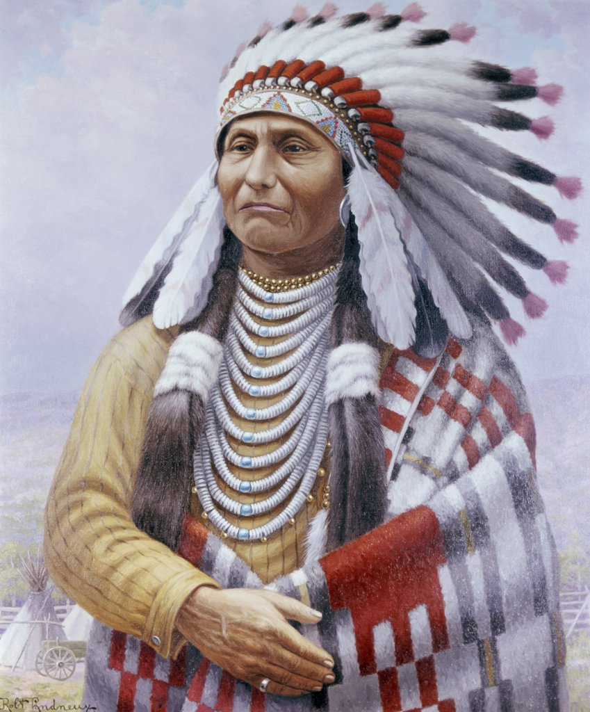 Chief Joseph by Robert Ottokar Lindneux, 1871-1970 : Stock Photo