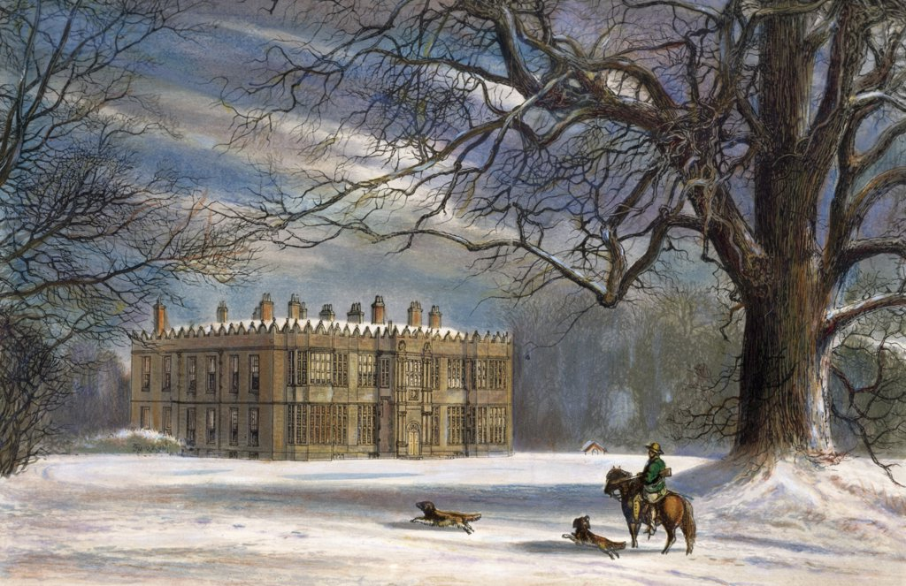 Stock Photo: 900-134235 Howsham Hall, Malton, Yorkshire, artist unknown