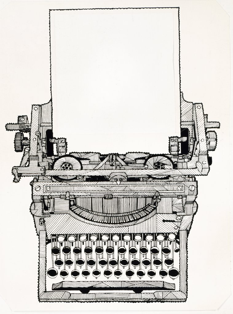 Stock Photo: 900-136353 Manual Typewriter, artist unknown