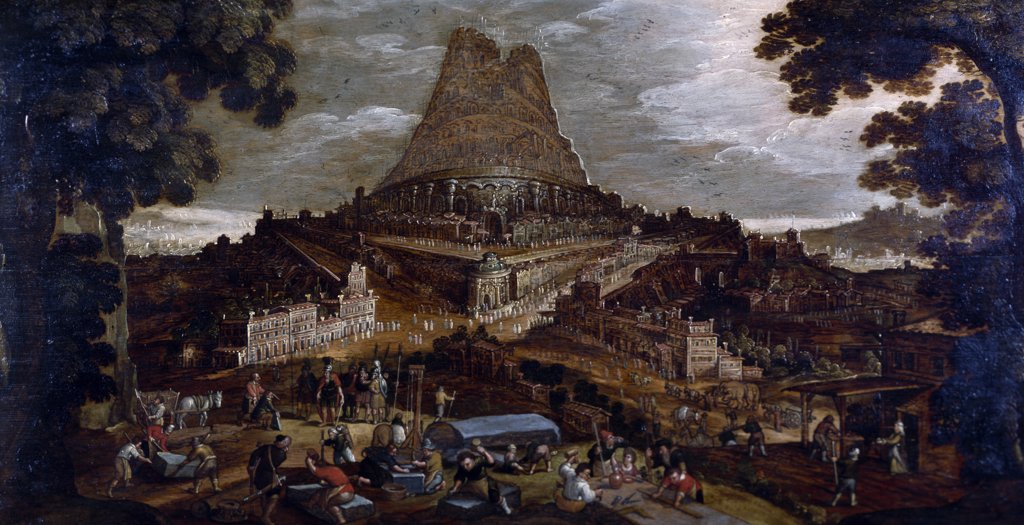 Stock Photo: 900-137127 The Tower of Babel by Hendrick van Cleeve, 18th century