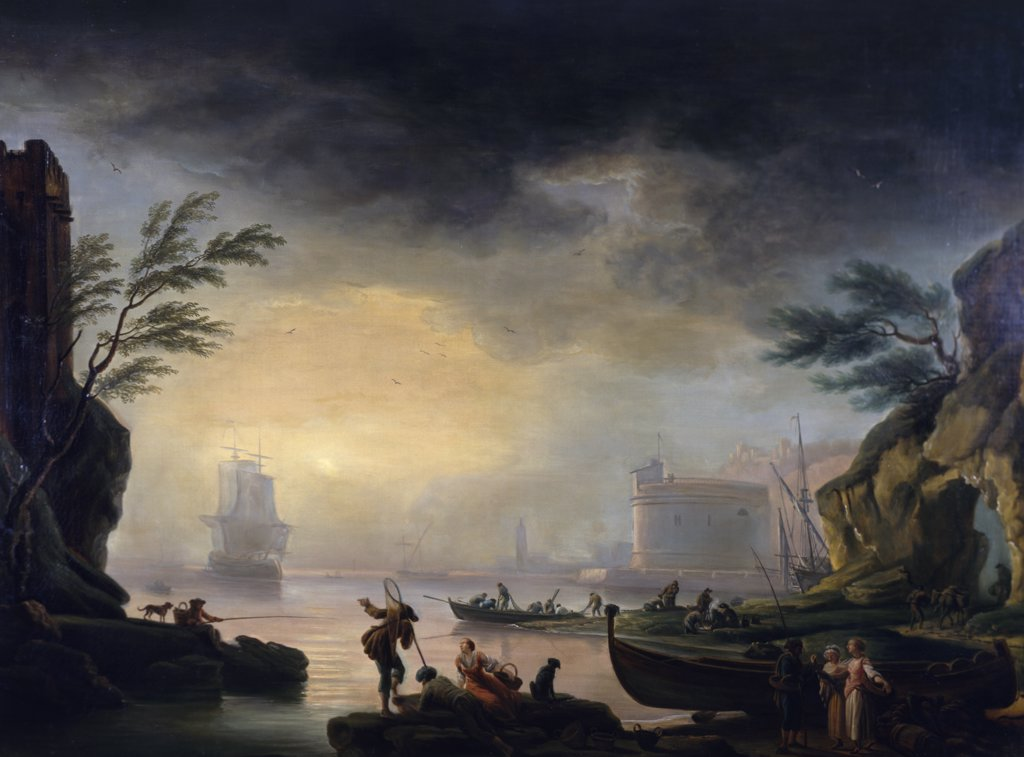 Mediterranean Coastal Landscape, A, Vernet, Claude-Joseph (1714-1789/French) : Stock Photo