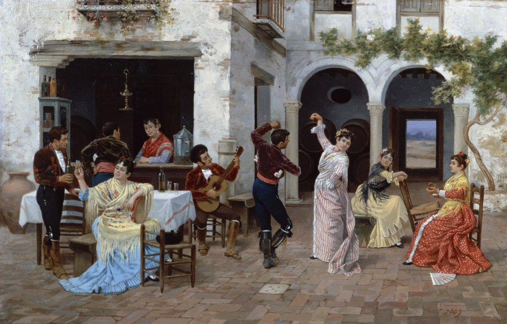 In a Spanish Courtyard 