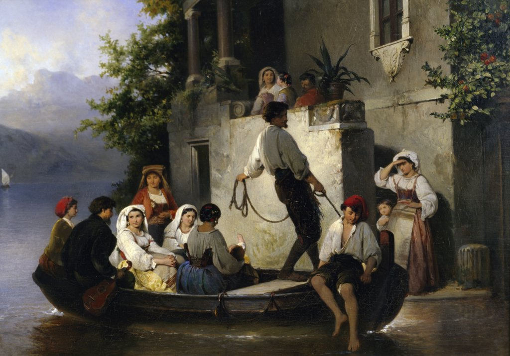 Stock Photo: 900-137322 Family Arrival, The, Philippeau, Karel Frans (1825-1897/Dutch)