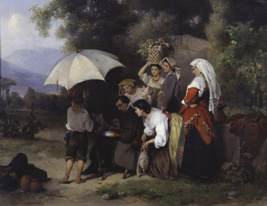The Critics Karel Frans Philippeau (1825-1897 Dutch) : Stock Photo