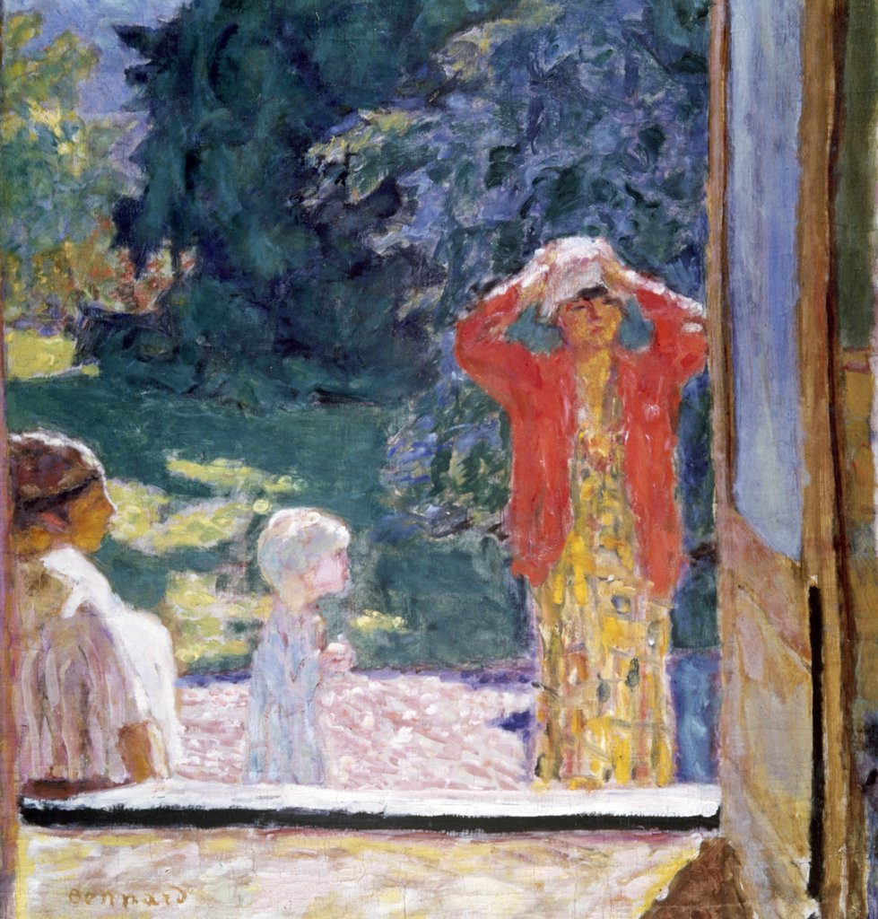 In Front of Window by Pierre Bonnard, 1867-1947 : Stock Photo