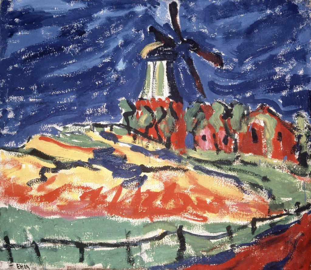 Stock Photo: 900-138741 Windmill in Dangast by Erich Heckel, 1883-1970
