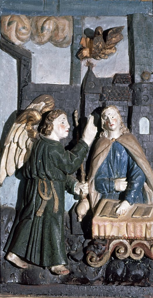 Annunciation of Mary Artist Unknown Relief : Stock Photo