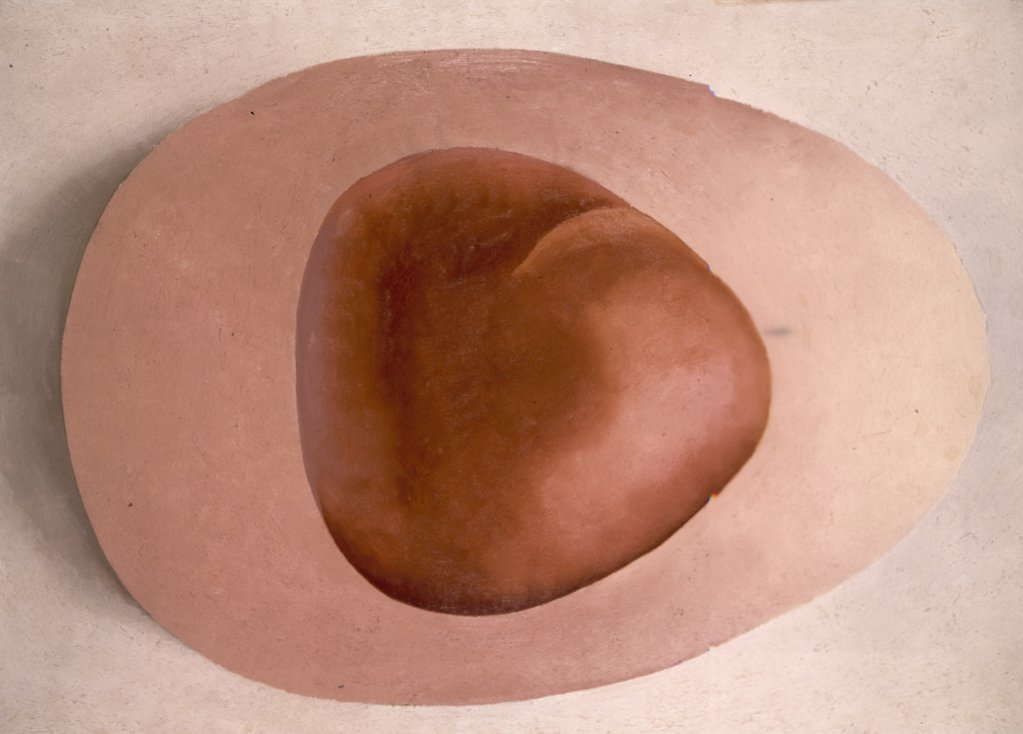 Stock Photo: 900-141124 Red & Pink Rocks by Georgia O'Keeffe, 1887-1986