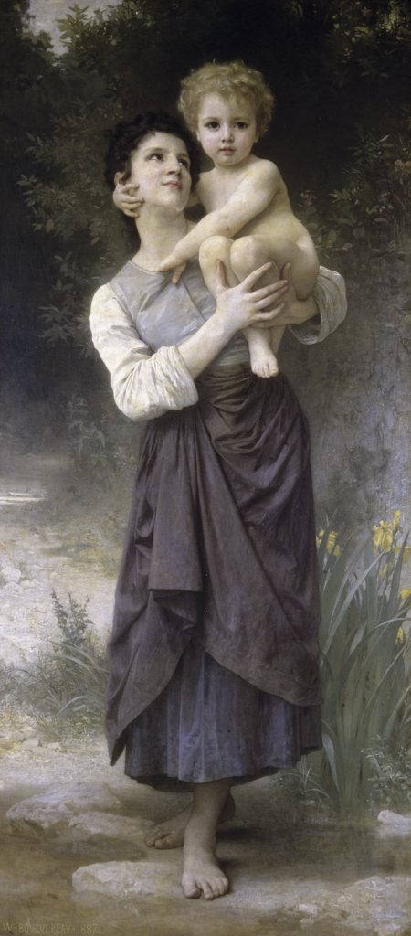 Brother & Sister William-Adolphe Bouguereau (1825-1905/French) : Stock Photo