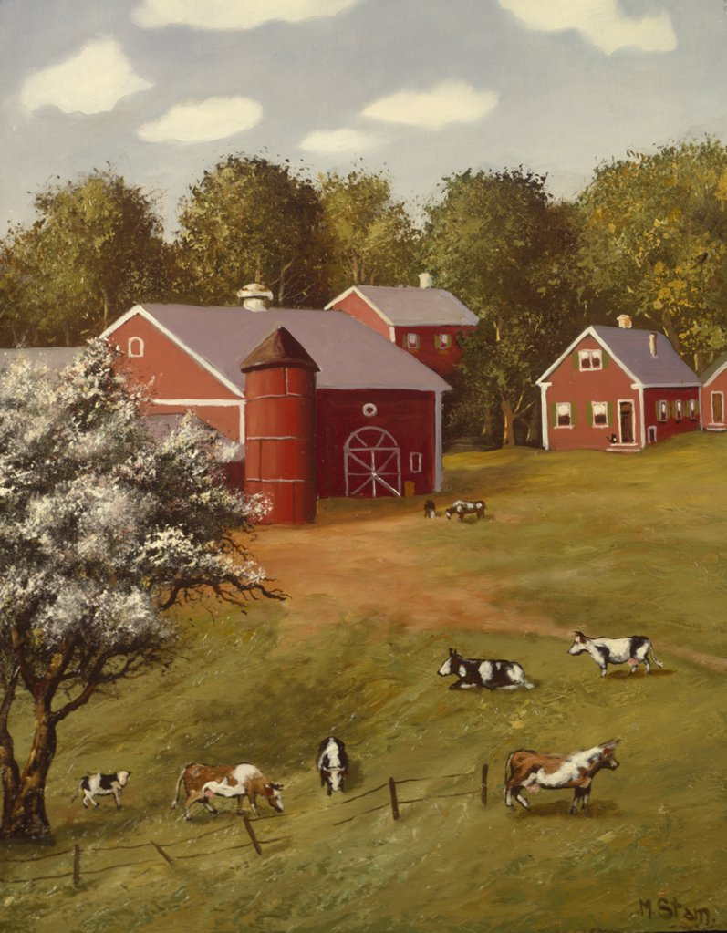 Stock Photo: 900-142568 Peaceful Farm, by Mart Stam 1899-1986