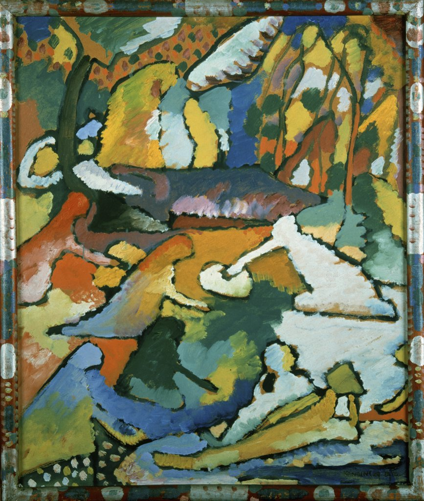 Stock Photo: 900-143588 Sketch for Composition II by Wassily Kandinsky, oil on canvas, 1910, 1866-1944