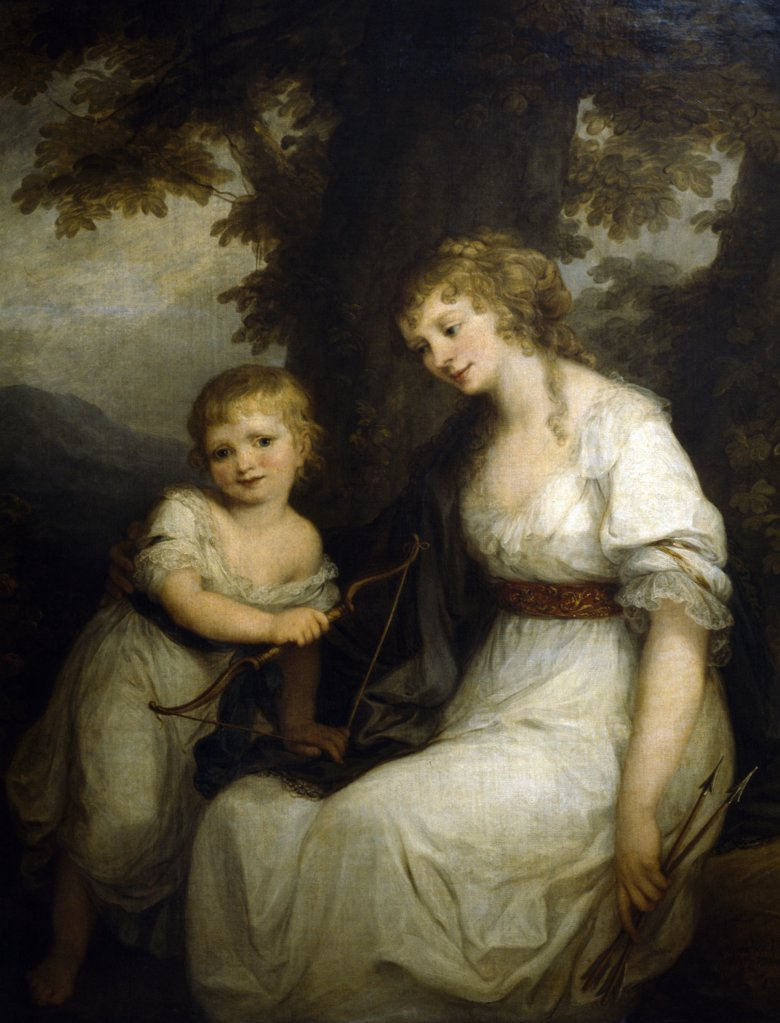 Stock Photo: 900-143621 Portrait of Baroness Krudner and Daughter