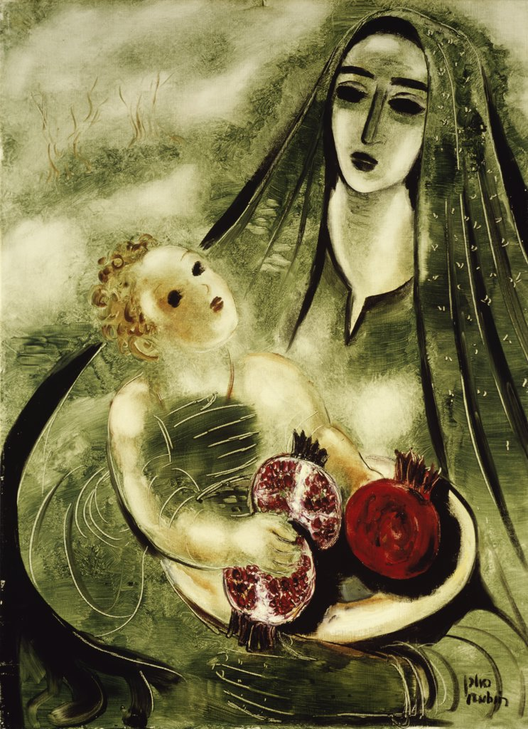 Stock Photo: 900-143923 Madonna with Pomegranate by Reuven Rubin, b. 1893