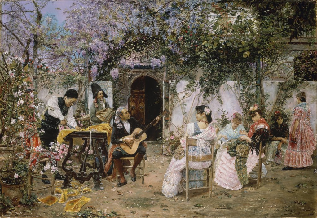 Stock Photo: 900-144753 Tailors and Guitarist in the Garden