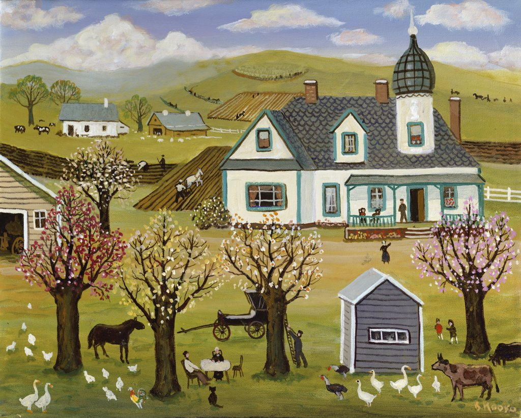 Stock Photo: 900-145396 Springtime on the Farm 