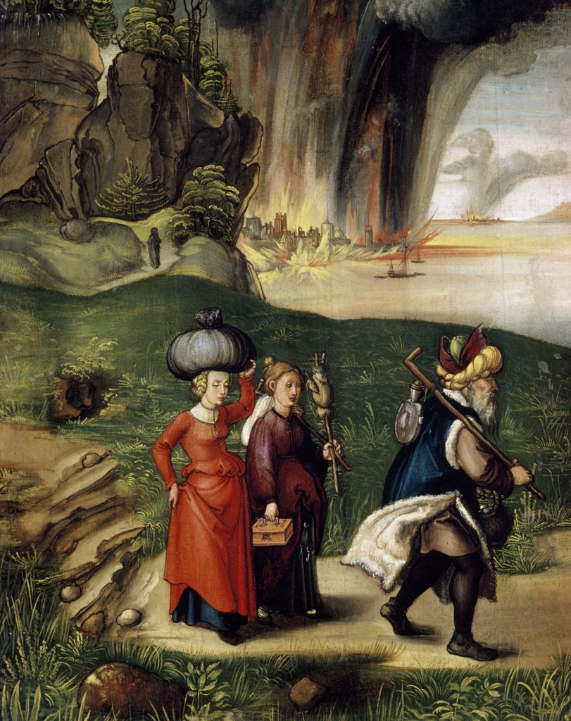 Stock Photo: 900-145592 Lot and His Family Fleeing from Sodom