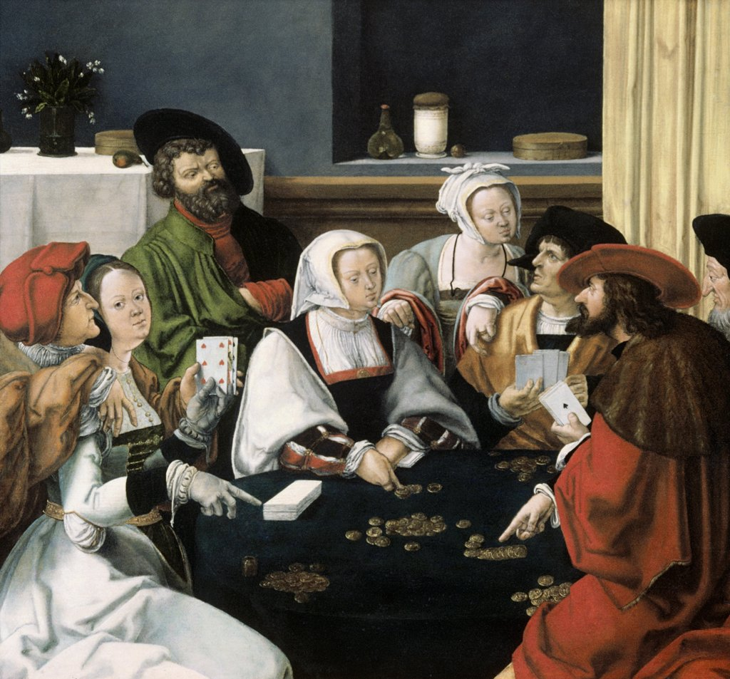 Stock Photo: 900-145609 The Card Players