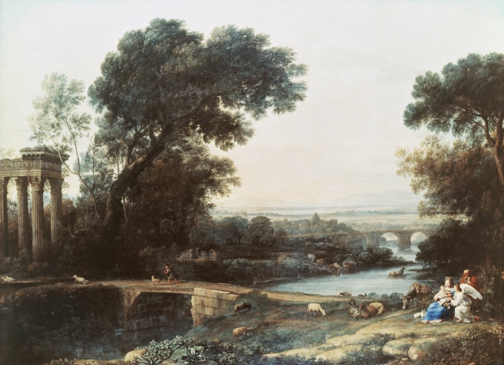 Rest on the Flight to Egypt with Landscape